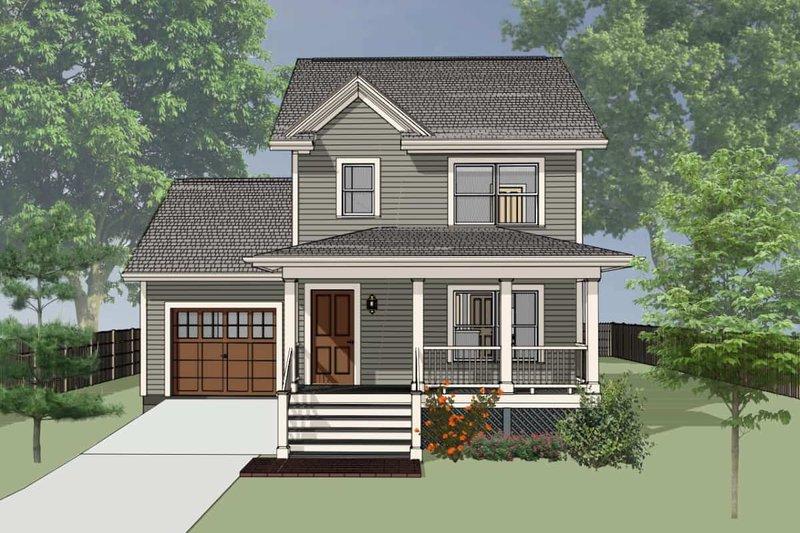 Farmhouse Exterior - Front Elevation Plan #79-124