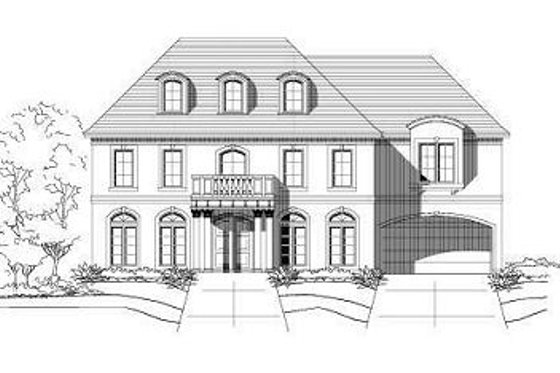 Colonial Exterior - Front Elevation Plan #411-584