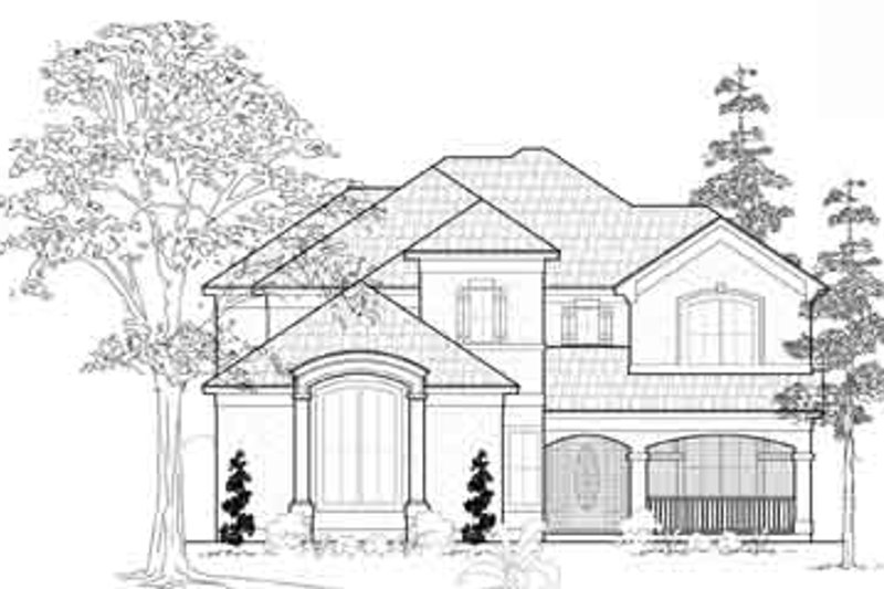 Mediterranean Exterior - Front Elevation Plan #61-328 - Houseplans.com