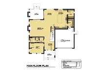 Modern Floor Plan - Main Floor Plan Plan #1066-64