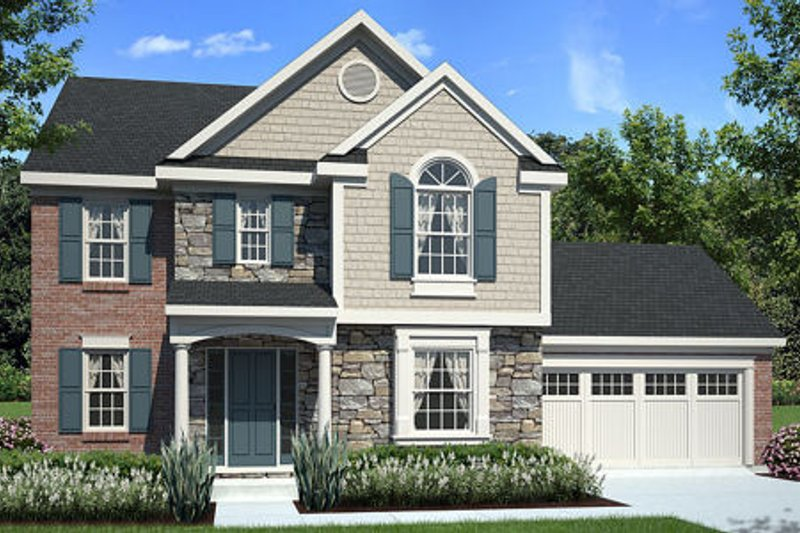 Traditional Exterior - Front Elevation Plan #46-455 - Houseplans.com