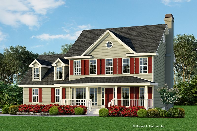 Farmhouse Style House Plan - 3 Beds 2.5 Baths 1792 Sq/Ft Plan #929-241 Exterior - Front Elevation