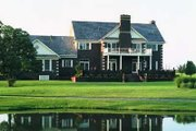 Southern Style House Plan - 4 Beds 5 Baths 4220 Sq/Ft Plan #72-193 Exterior - Rear Elevation