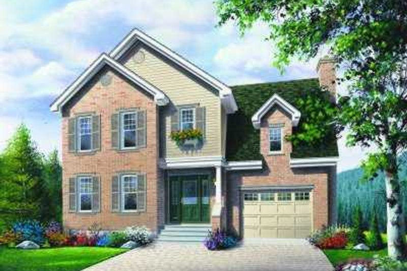 European Exterior - Front Elevation Plan #23-358 - Houseplans.com