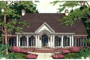 Home Plan - Colonial Exterior - Front Elevation Plan #406-107