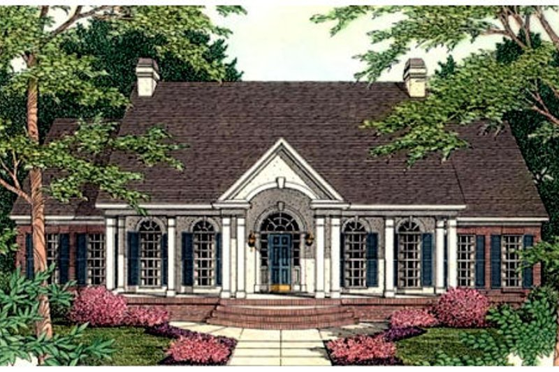 Dream House Plan - Colonial Exterior - Front Elevation Plan #406-107