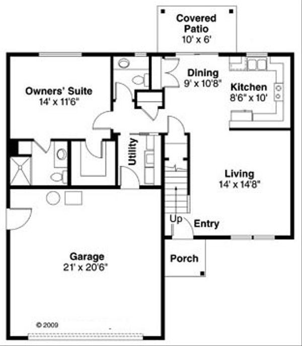 Farmhouse Floor Plan - Main Floor Plan Plan #124-770