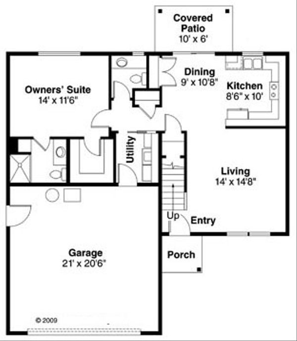 Farmhouse Floor Plan - Main Floor Plan Plan #124-770