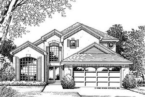Mediterranean Exterior - Front Elevation Plan #417-163