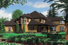 Dream House Plan - Craftsman Exterior - Rear Elevation Plan #48-356
