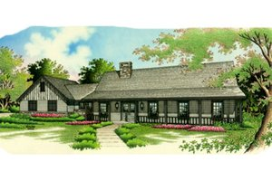 Home Plan - Farmhouse Exterior - Front Elevation Plan #45-122