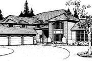 Traditional Style House Plan - 4 Beds 3 Baths 3649 Sq/Ft Plan #89-201 Exterior - Front Elevation