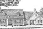 Southern Style House Plan - 3 Beds 2 Baths 2044 Sq/Ft Plan #310-308 Exterior - Front Elevation