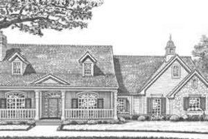 Southern Exterior - Front Elevation Plan #310-308