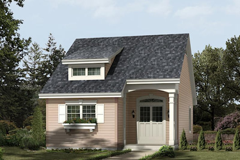Cottage Style House Plan - 2 Beds 1 Baths 882 Sq/Ft Plan #57-380 Exterior - Front Elevation