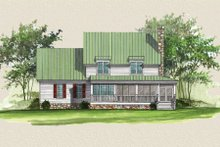 House Plan Design - Country Exterior - Rear Elevation Plan #137-216