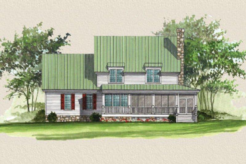 Country Exterior - Rear Elevation Plan #137-216 - Houseplans.com