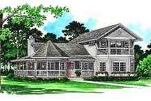 Victorian Exterior - Front Elevation Plan #72-224