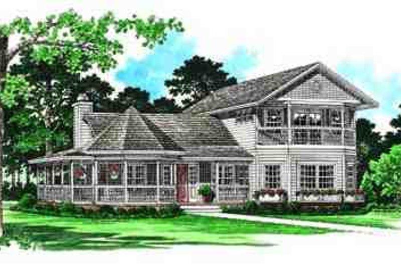 Dream House Plan - Victorian Exterior - Front Elevation Plan #72-224