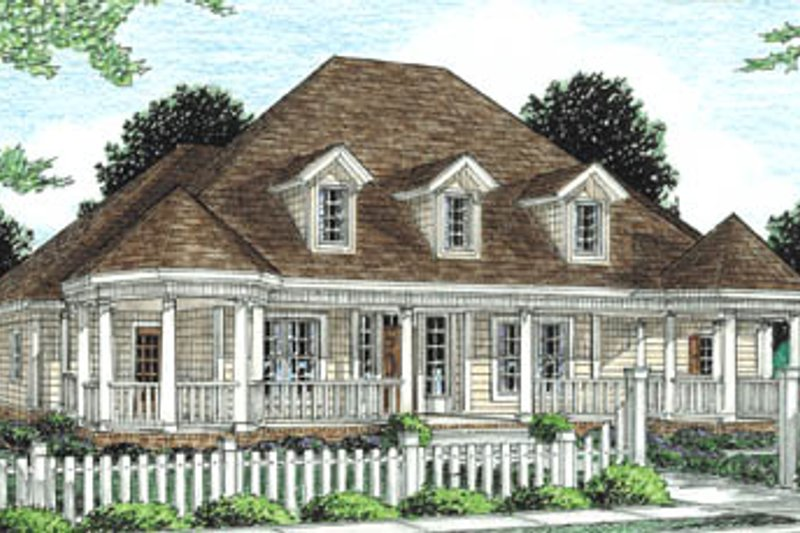 Country Exterior - Front Elevation Plan #20-289