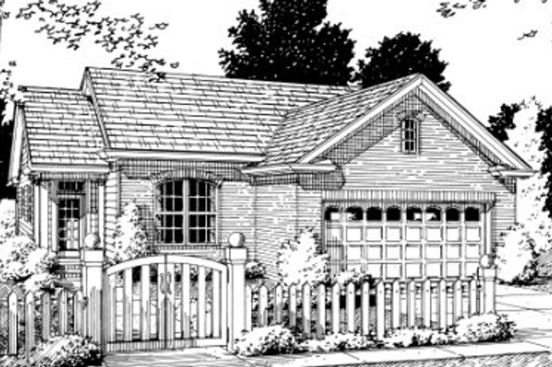 Architectural House Design - Traditional Exterior - Front Elevation Plan #20-346