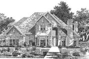 European Style House Plan - 4 Beds 3.5 Baths 3751 Sq/Ft Plan #310-221 Exterior - Front Elevation