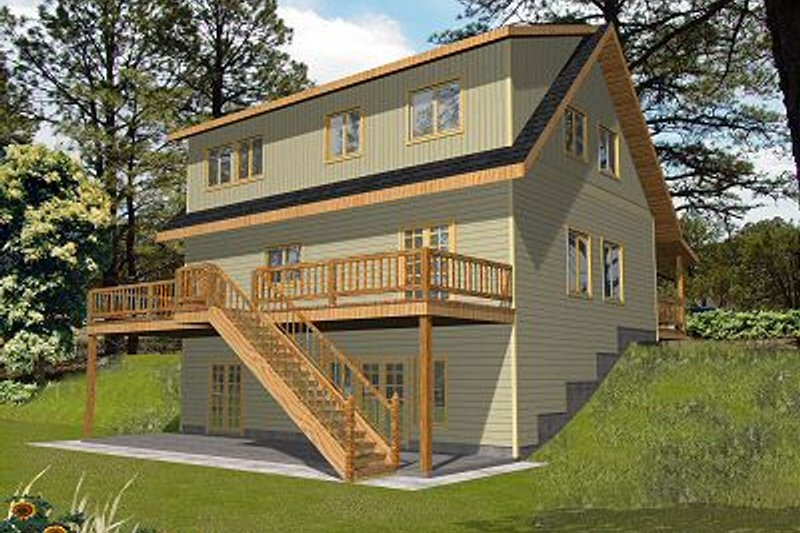 Traditional Exterior - Front Elevation Plan #117-544 - Houseplans.com