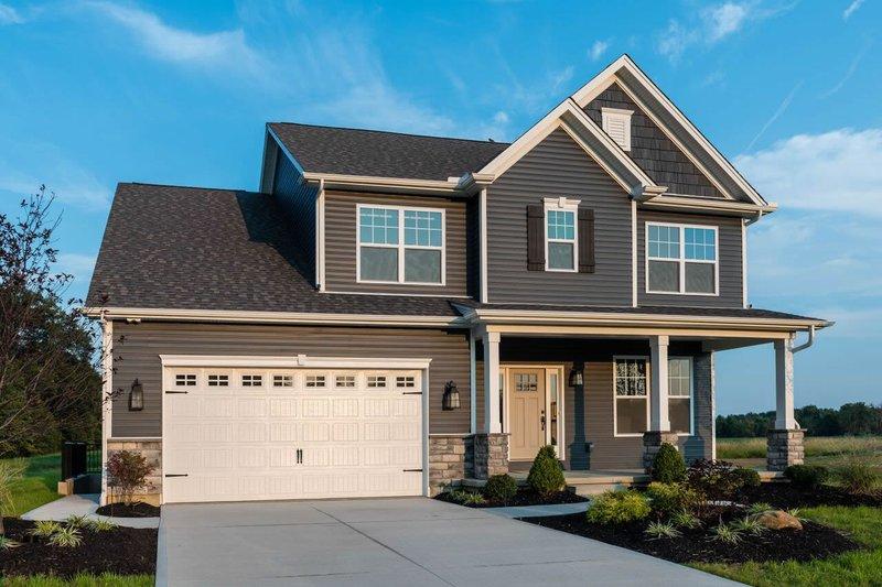 Architectural House Design - Craftsman Exterior - Front Elevation Plan #20-2420