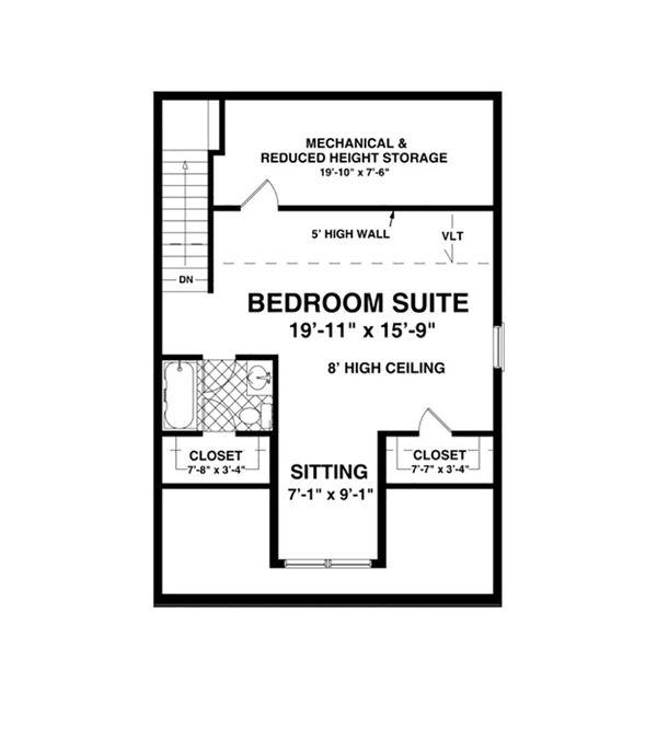 Craftsman Floor Plan - Upper Floor Plan Plan #56-610