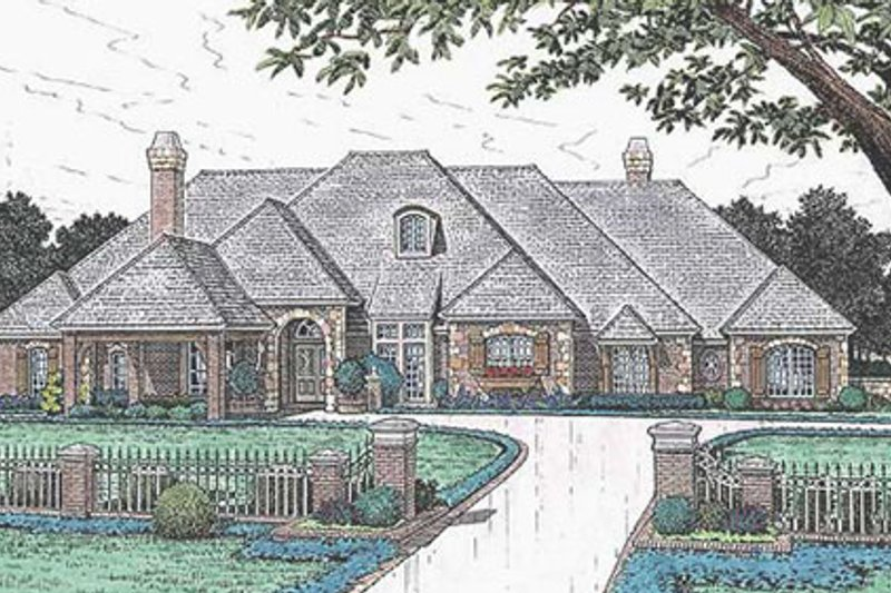 Architectural House Design - European Exterior - Front Elevation Plan #310-635