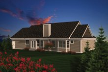 Dream House Plan - Traditional Exterior - Rear Elevation Plan #70-1083