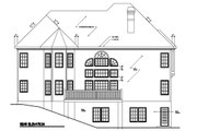 Southern Style House Plan - 5 Beds 4 Baths 3531 Sq/Ft Plan #129-162 Exterior - Rear Elevation