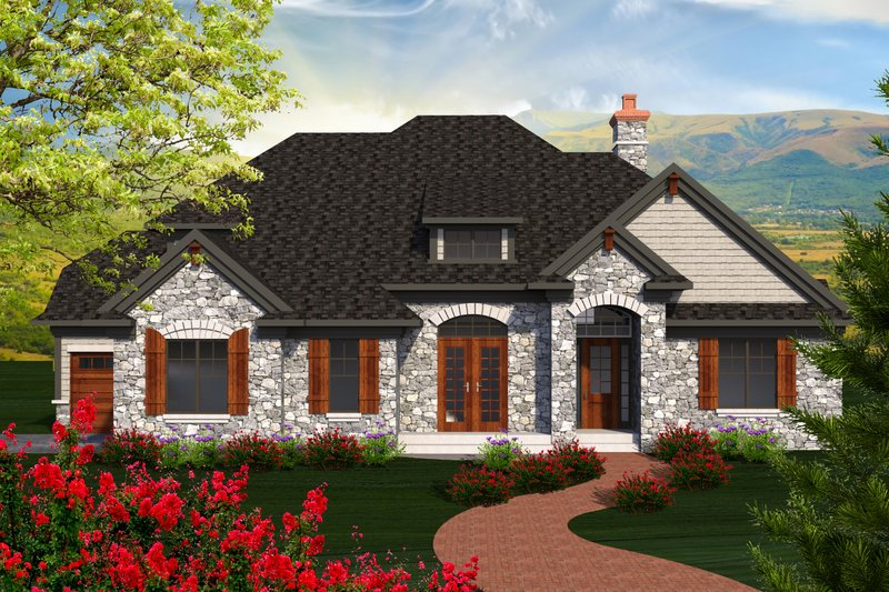 Home Plan - European Exterior - Front Elevation Plan #70-1179