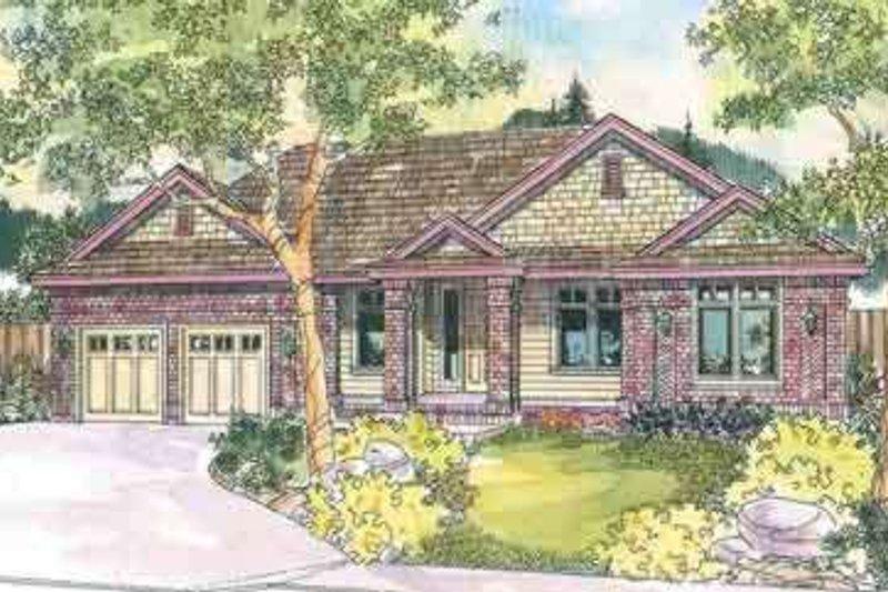 Architectural House Design - Craftsman Exterior - Front Elevation Plan #124-551