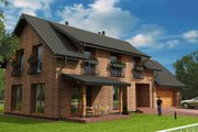 European Style House Plan - 3 Beds 2 Baths 2310 Sq/Ft Plan #538-16 Exterior - Other Elevation