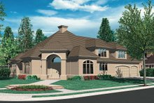 Contemporary Exterior - Front Elevation Plan #48-346