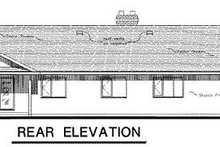 House Blueprint - Ranch Exterior - Rear Elevation Plan #18-102