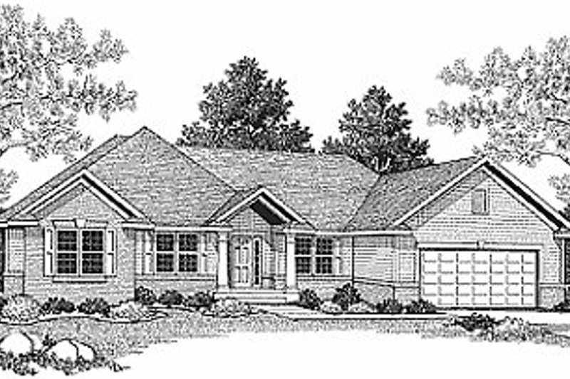 Traditional Exterior - Front Elevation Plan #70-241 - Houseplans.com