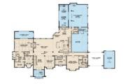 European Style House Plan - 5 Beds 6.5 Baths 7519 Sq/Ft Plan #923-112 Floor Plan - Main Floor Plan