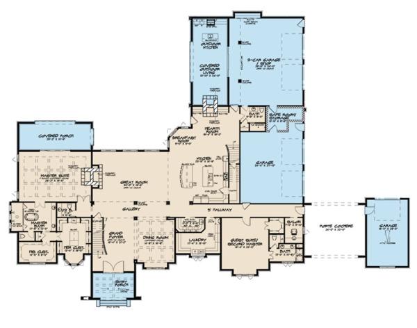 House Plan Design - European Floor Plan - Main Floor Plan #923-112