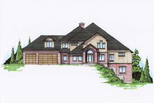 Dream House Plan - Traditional Exterior - Front Elevation Plan #5-433