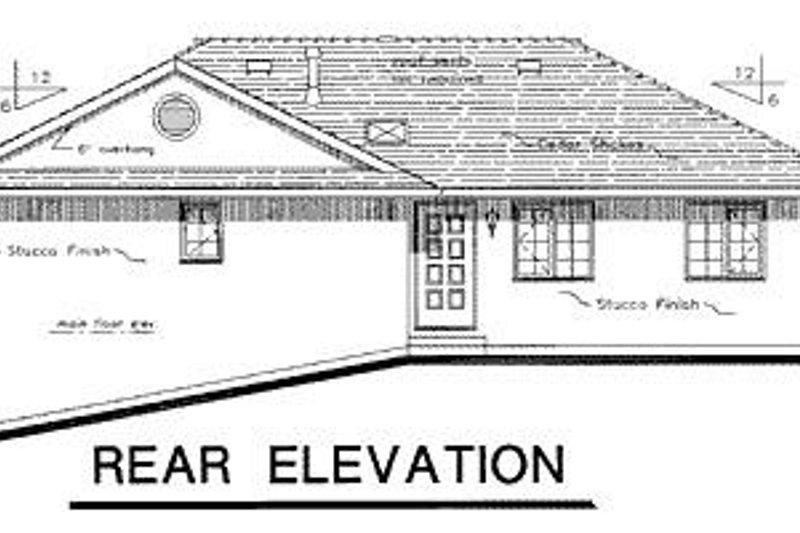 European Exterior - Rear Elevation Plan #18-138 - Houseplans.com