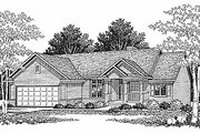 Traditional Style House Plan - 3 Beds 2.5 Baths 2518 Sq/Ft Plan #70-135 Exterior - Front Elevation