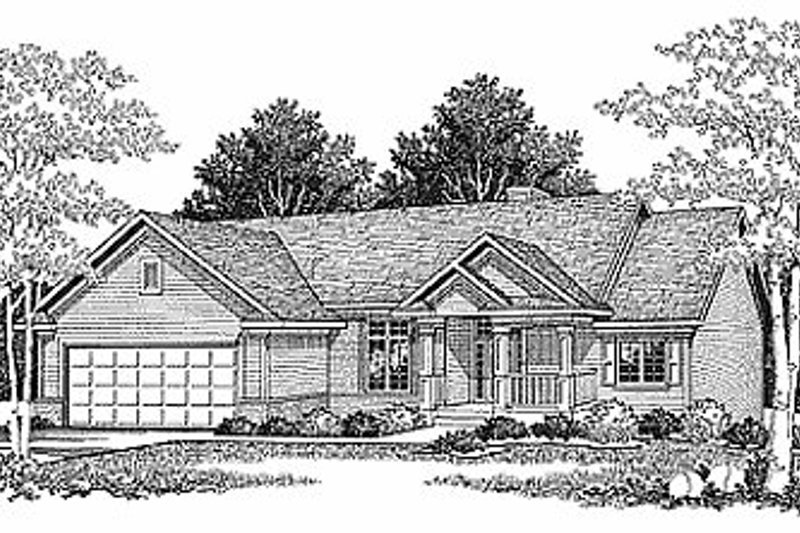 Traditional Exterior - Front Elevation Plan #70-135