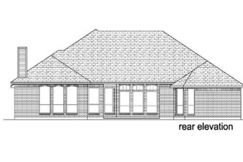 Traditional Exterior - Rear Elevation Plan #84-375 - Houseplans.com