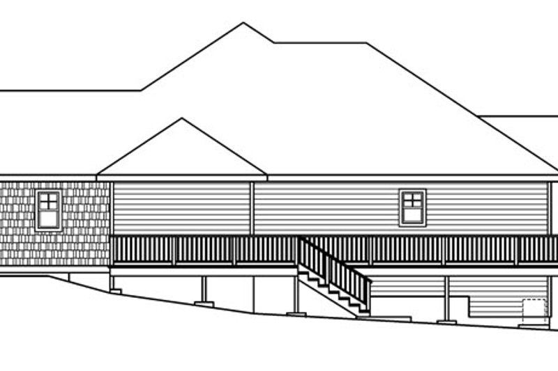 Traditional Exterior - Other Elevation Plan #124-620 - Houseplans.com