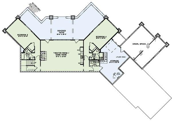 European Floor Plan - Upper Floor Plan Plan #17-2559