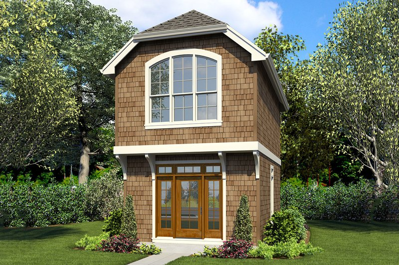Craftsman Style House Plan - 1 Beds 1 Baths 628 Sq/Ft Plan #48-935 Exterior - Front Elevation