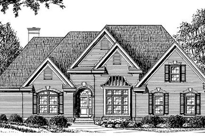 Traditional Exterior - Other Elevation Plan #34-119 - Houseplans.com