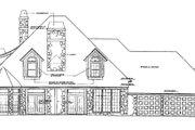 European Style House Plan - 4 Beds 3 Baths 3615 Sq/Ft Plan #310-135 Exterior - Rear Elevation